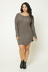 Forever 21 Plus Size Brushed Scoop Dress Pewter