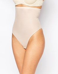 Magic Body High Waist Control Thong Beige