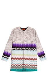 Missoni Zip Up Cardigan Purple
