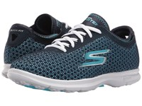 Skechers Go Step Intensity Navy Light Blue Women's Lace Up Casual Shoes Multi