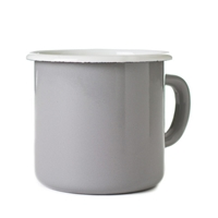 Enamel Mug Ash Grey Old Faithful Shop