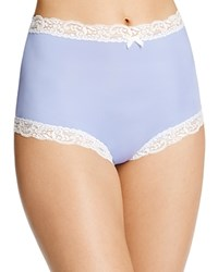 Fine Lines Microfiber Scallop Lace Full Brief Mb061 Twilight