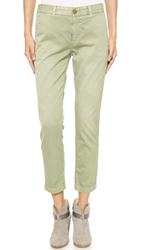 Current Elliott The Cropped Buddy Trousers Sea Forest