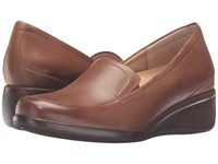 Trotters Marche Cognac Tumbled Leather Women's Slip On Shoes Brown