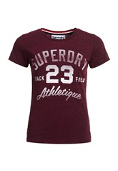 Superdry Trackster Kiss Print T Shirt Red
