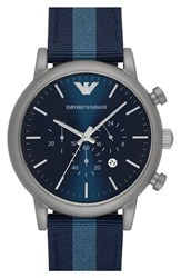 Men's Emporio Armani 'Dress Chrono' Leather Strap Watch 46Mm
