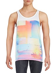 Bench Flare Graphic Tank Bright White