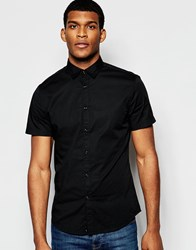 United Colors Of Benetton Short Sleeve Shirt Black
