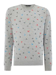 Duck And Cover Men's Freestyle Sweat Light Grey Marl