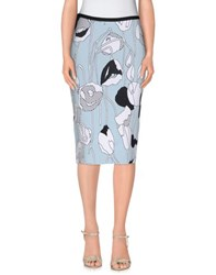 Iceberg Skirts Knee Length Skirts Women Sky Blue