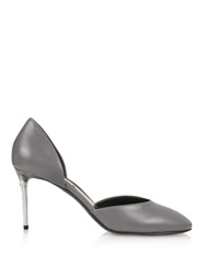 Balenciaga George C Plexi Heel Leather Pumps