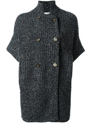 Brunello Cucinelli Double Breasted Cardigan Grey
