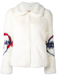 Shrimps 'Junior' Cropped Jacket White
