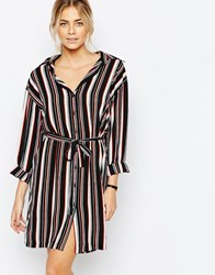 Love Shirt Dress In Stripe Red Multi Stripe