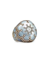 Mother Of Pearl And Diamond Dome Ring Arunashi