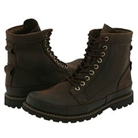 Timberland Earthkeepers Rugged Original Leather 6 Boot Dark Brown Men's Lace Up Boots