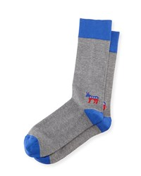 Blue Donkey Election Socks Gray Blue Men's Jonathan Adler