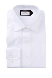Lorenzo Uomo No Iron Trim Fit Perfect Dress Shirt White