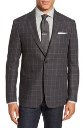 Todd Snyder Men's White Label Trim Fit Check Linen Sport Coat