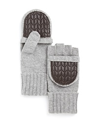 Lauren Ralph Lauren Quilted Pop Top Gloves Gray Heather