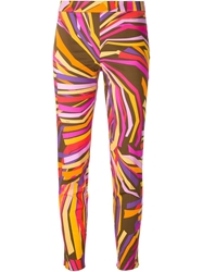 Emilio Pucci Printed Skinny Fit Trousers