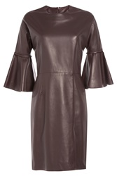 Alexander Mcqueen Leather Dress Red
