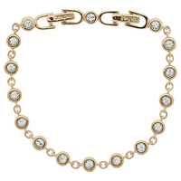 Cachet London Gold Plated Swarovski Crystal Linked Bracelet Gold