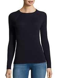 Saks Fifth Avenue Bodycon Raglan Sweater Classic Navy
