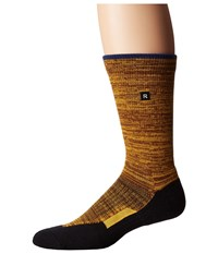 Richer Poorer Layback Athletic Brown Yellow Men's Crew Cut Socks Shoes