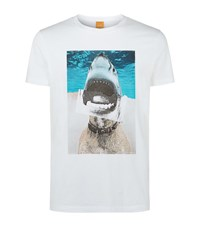 Boss Orange Treyno 1 Shark T Shirt Male White