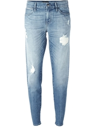 Koral Distressed Tapered Jeans