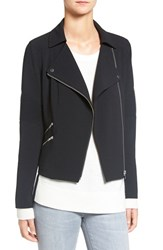 Trouve Women's Stretch Crepe Moto Jacket