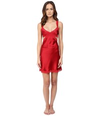 Stella Mccartney Clara Whispering Slip Chemise Tango Red