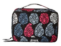 Vera Bradley Large Blush Brush Makeup Case Northern Lights Cosmetic Case White
