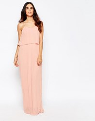 Club L Pleated Overlay Maxi Dress Nude Pink