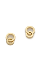 Jules Smith Designs Double Circle Stud Earrings Gold