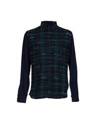 Desigual Shirts Shirts Men Dark Green