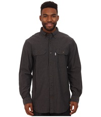 Carhartt Fort Solid L S Shirt Black Chambray Men's Long Sleeve Button Up