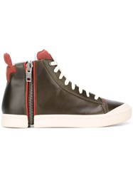 Diesel Zipped Hi Top Sneakers Black