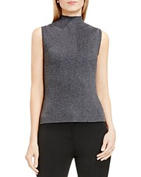 Vince Camuto Ribbed Mock Neck Knit Tank Medium Heather Grey