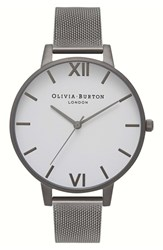 Olivia Burton Women's 'Big Dial' Mesh Strap Watch 38Mm