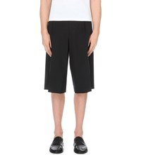 Wooyoungmi Relaxed Wool Blend Shorts Black