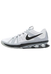 Nike Performance Reax Lightspeed Sports Shoes White Black Wolf Grey Pure Platinum