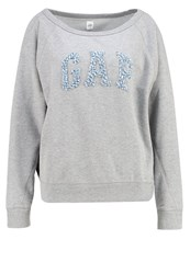 Gap Sweatshirt Light Heather Grey Pink