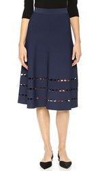 Ohne Titel Perforated Skirt Navy