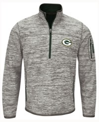 G3 Sports Men's Green Bay Packers Fast Pace Quarter Zip Pullover Gray Green