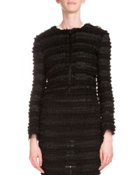 Givenchy Micro Ruffle Embroidered Jacket Black