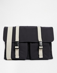 Asos Satchel With Web Buckle Straps Navy