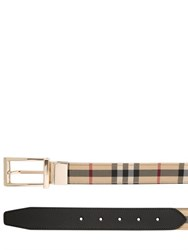 Burberry 30Mm Horseferry Check Reversible Belt