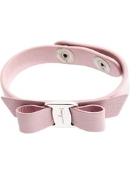 Salvatore Ferragamo Bow Bracelet Pink And Purple